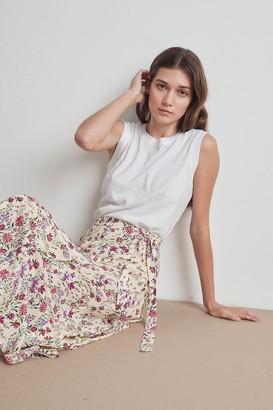 Velvet by Graham & Spencer Isadora Floral Print Challis Wrap Skirt