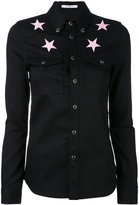 Givenchy star embroidered shirt - women - Cotton/Polyester/Spandex/Elastane - 34
