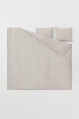 H&M Washed Cotton Duvet Cover Set