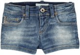 Diesel Glitter Stretch Denim Shorts (Kid) - Indigo-7