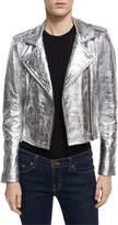 IRO Axelle Metallic Leather Motorcycle Jacket