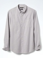 Banana Republic Grant-Fit Cotton-Stretch Gingham Oxford Shirt