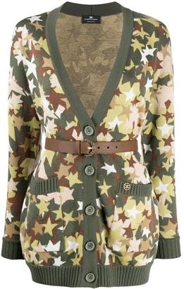Elisabetta Franchi Star Embroidered Cardigan