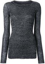Isabel Marant fitted sweater - women - Linen/Flax/Polyamide/Viscose/Wool - 40
