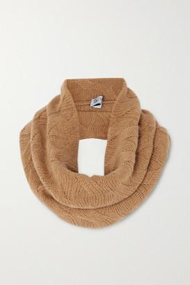 Johnstons of Elgin Cable-knit Cashmere Snood - Camel