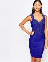 Lipsy Michelle Keegan Loves Lace Applique Front Pencil Dress