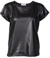 VIP Womens Short Turn up Sleeved Wet Look Baggy T-shirt (8/10 (uk 12/14))