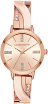 Liz Claiborne Womens Rose Goldtone Bracelet Watch-Lc1345