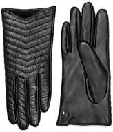 Mackage Cano Leather Gloves With Quilted Design For Women