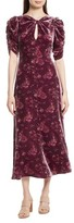 Rebecca Taylor Women's Jewel Velvet Midi Dress