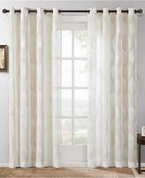 "Madison Park Adele 50"" x 84"" Ogee Jacquard Sheer Grommet Window Panel"