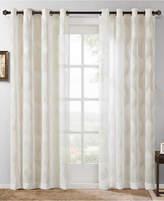 "Madison Park Adele 50"" x 95"" Ogee Jacquard Sheer Grommet Window Panel"