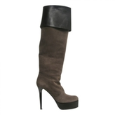Giuseppe Zanotti Gorgeous! New Taupe Suede Platform Over Knee Boots Sz 38