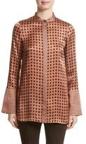 Lafayette 148 New York Women's Desra Highgate Houndstooth Silk Tunic