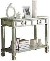 Monarch Mirrored Sofa Console Table With 2 Drawers