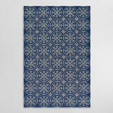 Blue Pagoda Indoor Outdoor Area Rug