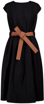 Loewe Belted wool and cotton midi dress