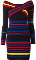 Diesel coloured stripes fitted dress - women - Cotton/Nylon/Spandex/Elastane/Rayon - S