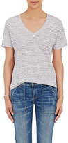 Rag & Bone Women's Slub-Knit T-Shirt-BLACK, WHITE