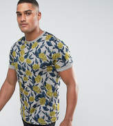 Ted Baker TALL Crew Neck T-Shirt in Floral Print