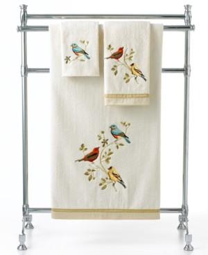 Avanti Bath Towels, Gilded Birds Fingetip Towel Bedding