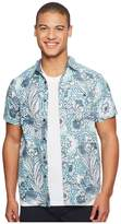 VISSLA Mongos Short Sleeve Printed Woven Top Men's Clothing