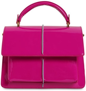 Marni SMALL ATTACHE PATENT LEATHER BAG