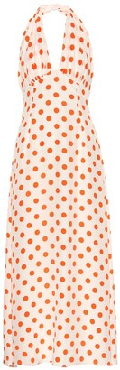 Emilia Wickstead Micaela polka-dot silk midi dress