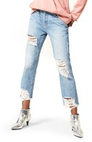 7 For All Mankind Women's Josefina Studded Destroyed Jeans