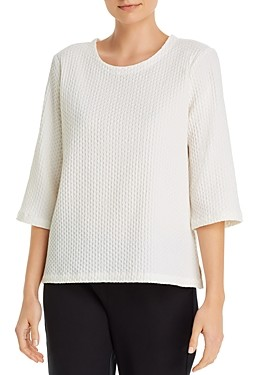 Eileen Fisher Textured Boxy Top
