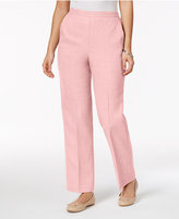 Alfred Dunner Petite Rose Hill Pull-On Straight-Leg Pants