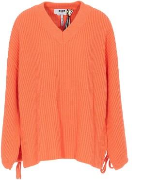 MSGM V-Neck Knit Sweater