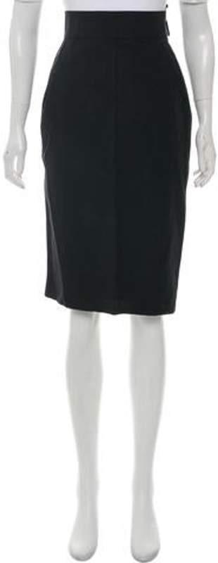 Lanvin Knee-Length Pencil Skirt Black Knee-Length Pencil Skirt