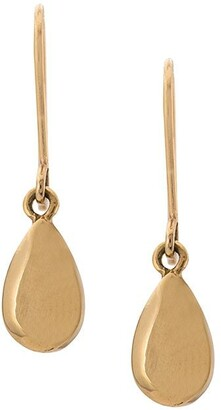 Carolina Bucci 18kt yellow gold Pear Cut Shiny Drop earrings