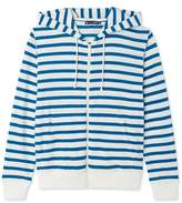 Petit Bateau Womens striped zippered sweatshirt