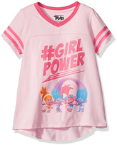 Freeze Trolls Light Pink '#GirlPower' V-Neck Tee - Girls
