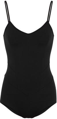 Live The Process Corset Black Stretch-jersey Bodysuit