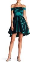 Minuet Off-the-Shoulder Flare Dress