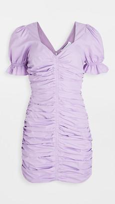 Endless Rose Puff Sleeve Shirred Mini Dress