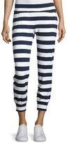 Norma Kamali Jog Pants, Navy/White Stripe