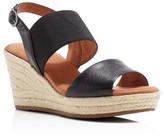 Gentle Souls Kara Espadrille Wedge Slingback Sandals