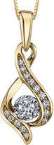 Sirena 1/7 CT. Diamond 10K Yellow Gold Infinity Pendant Necklace