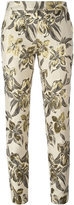 Christian Pellizzari floral print cropped trousers