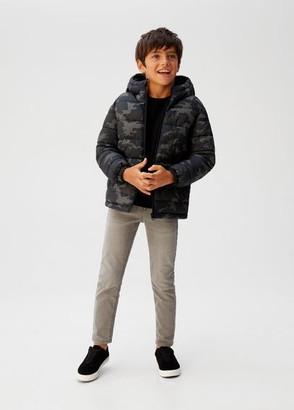 MANGO Hood quilted coat mustard - 4 - Kids