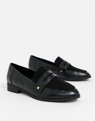 London Rebel loafer in black