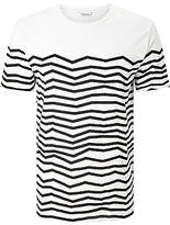 Samsoe & Samsoe Durham Zig Zag Stripe T-shirt, White/pirate Black