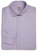 Ike Behar Regular-Fit Lion Textured Dress Shirt
