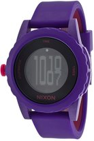 Nixon A326230 Women's The Genie Lefty Digital Dial Purple & Pink Silicone Strap Watch