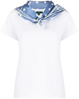 Jejia scarf collar T-shirt