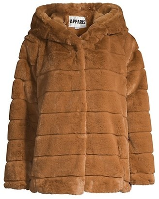 Apparis Goldie Hooded Faux-Fur Coat